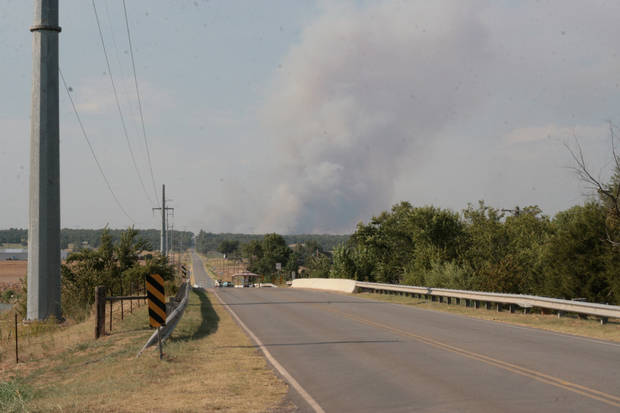 Wildfire near Luther