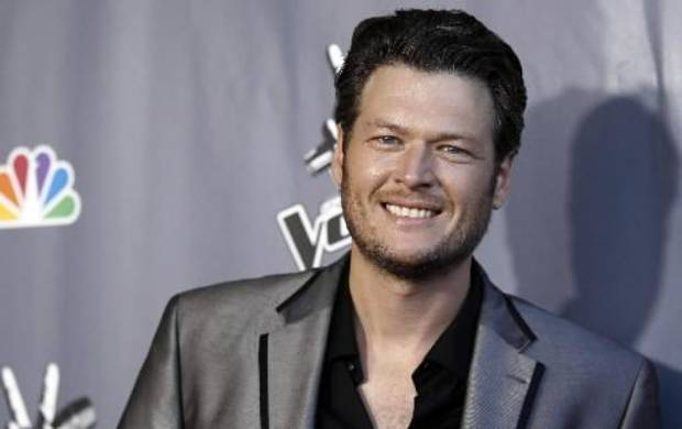 "Oklahoma country music star Blake Shelton smiles for photographers after finale of ""The Voice"" June 29 in Burbank, Calif. (AP file photo)"