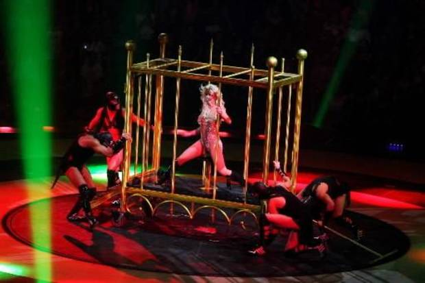 Britney Spears performs her Circus concert at the BOK Center in Tulsa, Okla., on September 15,2009. JAMES GIBBARD/Tulsa World