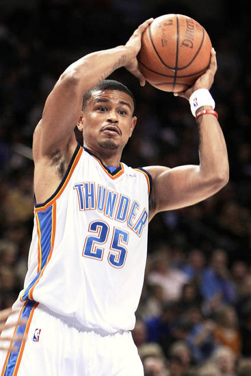 Thunder backup point guard Earl Watson might not see the court for the rest of the season.  Photo by hugh scott, the oklahoman