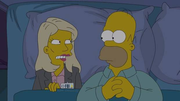 "THE SIMPSONS: Annie (guest voice Kristen Wiig), is an intense, jumpy FBI agent investigating Homer in the all-new ""Homerland"" 25th season premiere episode of THE SIMPSONS airing at 7 p.m. Sunday, Sept. 29 on FOX. THE SIMPSONS ™ and © 2013 TCFFC ALL RIGHTS RESERVED."