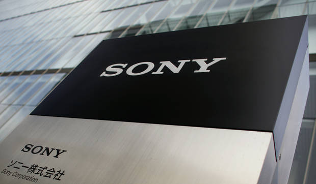 Sony's logo is seen outside the company's head office in Tokyo Thursday, Feb. 7, 2013. Sony Corp. is still struggling but managed to reduce its red ink for the latest quarter as the Japanese electronics and entertainment company aims for a comeback from record yearly losses. (AP Photo/Junji Kurokawa)