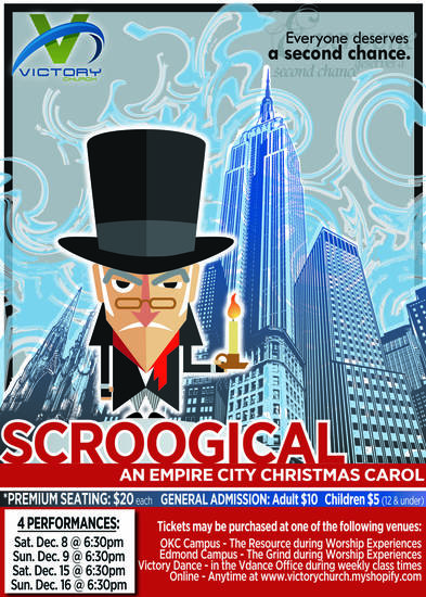 &quot;Scroogical&quot; is the name of a Christmas musical production at Victory Church, 4300 N MacArthur. Provided