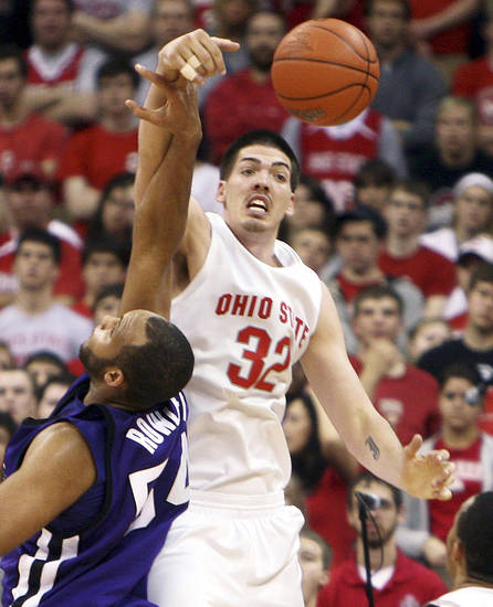 A lot of questions circle big man B.J. Mullens out of Ohio State.  AP Photo