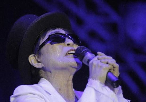 Yoko Ono performs at The Flaming Lips' New Year's Eve Freakout #5 in Oklahoma City. (Garett Fisbeck, The Oklahoman)