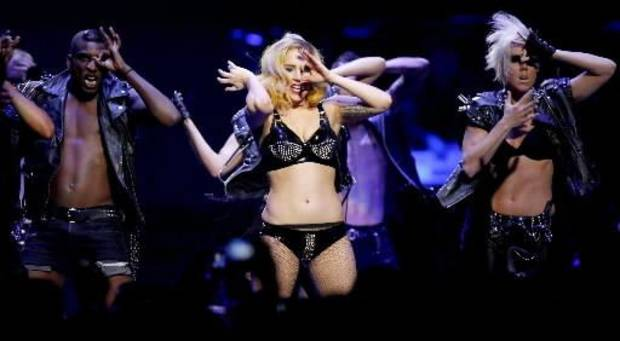Lady  Gaga performs at the Ford Center in Oklahoma City on Tuesday, July 20, 2010. Photo by Bryan Terry
