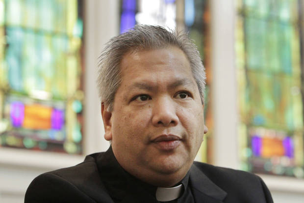 The Rev. Roberto Quant Pastor of Sacred Heart Catholic Church in Oklahoma City.