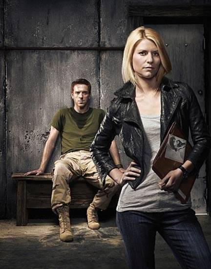 "Damien Lewis as Nicholas ""Nick"" Brody and Claire Danes as Carrie Mathison in Homeland (keyart) - Photo: Courtesy of SHOWTIME - Photo ID: homeland_gal_PR02_RaidCamera"