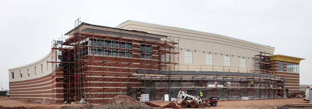 Performing Arts and Athletic Center construction at Deer Creek High School. Photo By David McDaniel/The Oklahoman <strong>David McDaniel - The Oklahoman</strong>