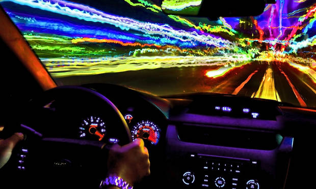 This is a photo illustration of a speeding driver. PHOTO ILLUSTRATION BY CHRIS LANDSBERGER, THE OKLAHOMAN