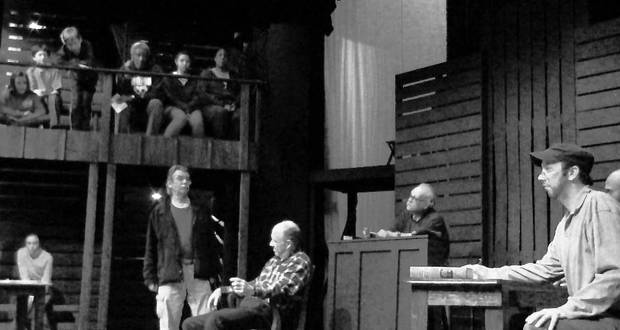"Rehearsal Photo from the Pollard's production of ""To Kill a Mockingbird."""