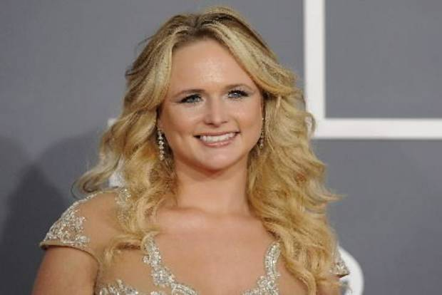 Miranda Lambert arrives at the 54th annual Grammy Awards on Sunday, Feb. 12, 2012 in Los Angeles. (AP Photo)