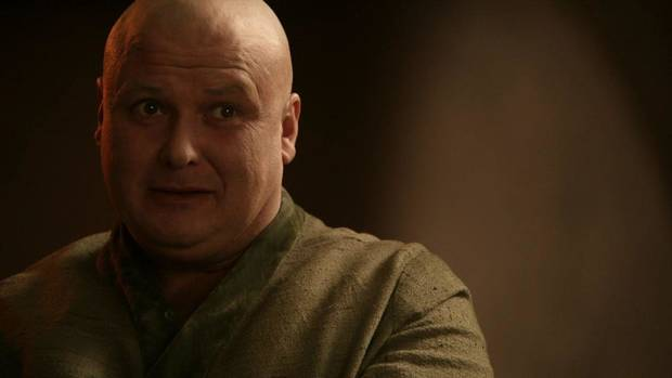 Lord Varys, bald and bold.
