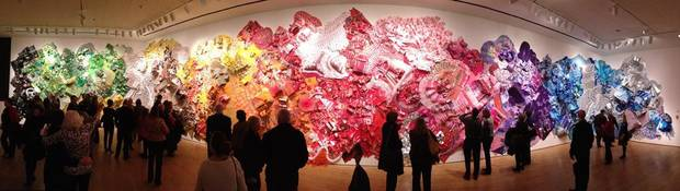 Panorama of finished exhibit