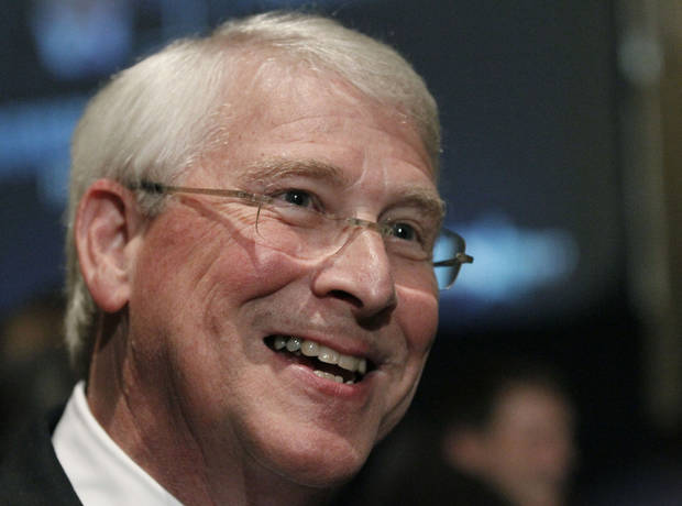 U.S. Sen. Roger Wicker, R-Miss., speaks to reporters following his victory speech after he is declared the winner to a second term in Jackson, Miss., Tuesday evening, Nov. 6, 2012. (AP Photo/Rogelio V. Solis)