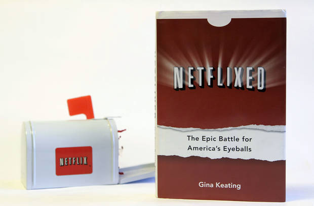 Gina Keating�s book Netflixed: The Epic Battle for America�s Eyeballs is shown. AP Photo