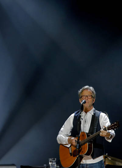 Eric Clapton performs during his concert at the Chesapeake Energy Arena on Wednesday, March 20, 2013, in Oklahoma City, Okla. Photo by Chris Landsberger, The Oklahoman