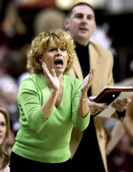 Chad Thrailkill, right, has been on Sherri Coale's OU women's basketball coaching staff for nine seasons. AP PHOTO