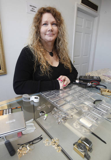 Gold and silver buyer Sandra Ward operates the Silver and Gold Exchange at 1715 N. Portland in Oklahoma City, OK, Tuesday, January 8, 2013,  By Paul Hellstern, The Oklahoman