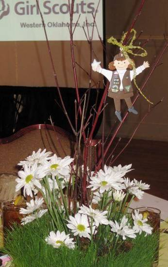 GIRL SCOUT LUNCHEON.....One of the table centerpieces at the Girl  Scout luncheon. (Photo by Helen Ford Wallace).
