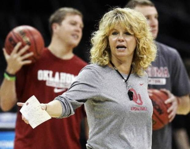 "Oklahoma women's basketball coach Sherri Coale said it was an ""honor"" to lead last year's team. AP PHOTO"