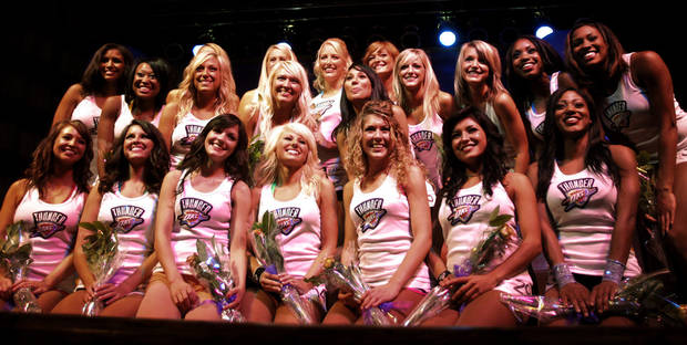 The OKC Thunder dance team, at Toby Keith's I Love this Bar and Grill, in Oklahoma City, Thursday, Sept. 11, 2008 BY MATT STRASEN, THE OKLAHOMAN.