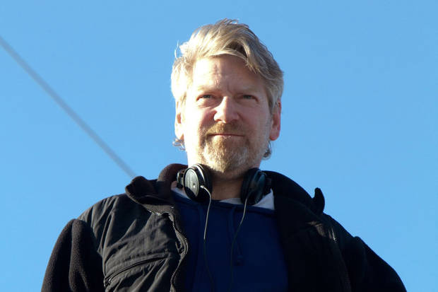 "Kenneth Branagh on the set of ""Thor."""