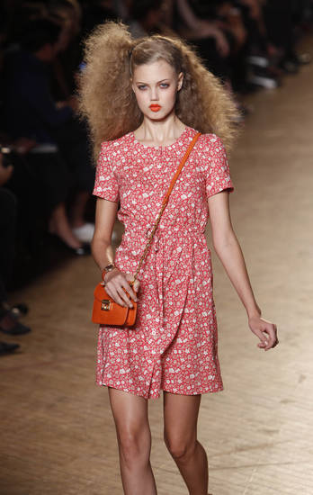 The Marc by Marc Jacobs spring 2011 collection is modeled during Fashion Week in New York, Tuesday, Sept. 14, 2010.  (AP Photo/Seth Wenig) ORG XMIT: NYSW109