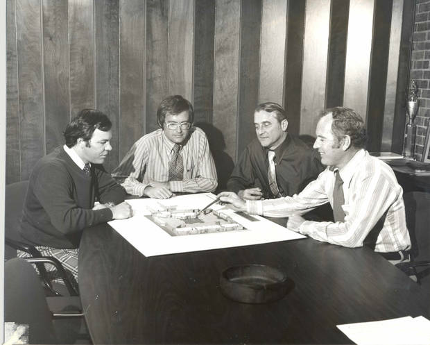 Jim Cross, Bob Wright, Wendell Locke  and Norman Foster of LWPB Architecture are shown in this company photo from around 1975. <strong> - PROVIDED BY LWPB ARCHITECTURE</strong>