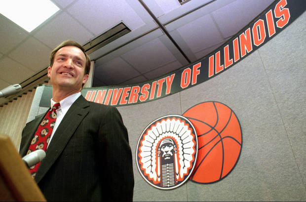 Former University of Illinois college basketball coach Lon Kruger speaks with the media at a press conference in Champaign, Ill, Thursday, March 21, 1996. Kruger took over for the retired Lou Henson, who coached the Illini for 21 years. (AP Photo/Mark Cowan)