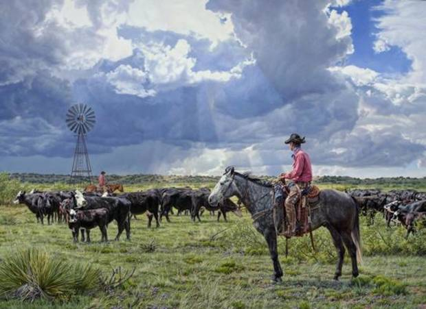 "Tim Cox's oil painting ""Maybe This Will Be a Good Year"" is featured in the 2014 Prix de West Invitational Art Exhibition and Sale at the National Cowboy & Western Heritage Museum. Photo provided."