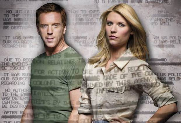 Damian Lewis and Claire Danes of &quot;Homeland&quot; - Showtime Photo
