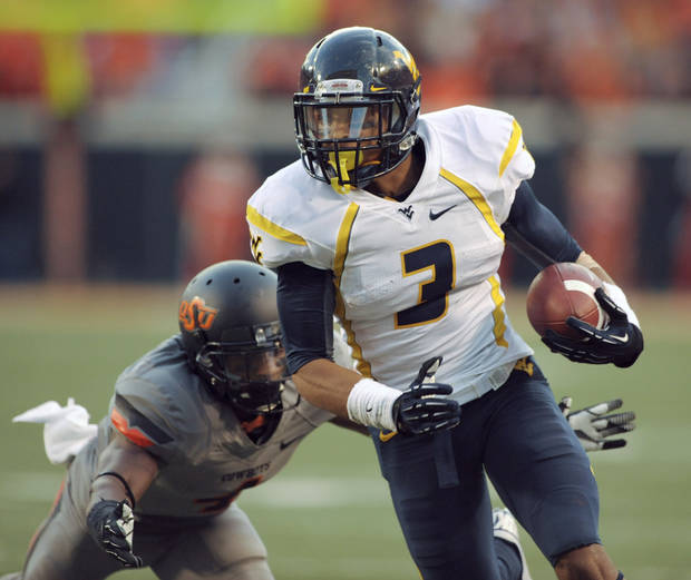 West Virginia receiver Stedman Bailey during last weekend's game at Oklahoma State. AP PHOTO