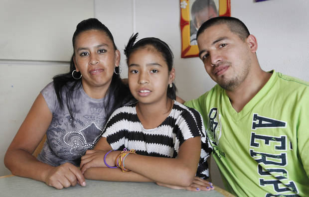 Erika Ramirez, center, needs a kidney transplant with her parents Teresa Ramirez and Carlos Guerra at their home in Norman,  Monday, July 2 , 2012. Photo By David McDaniel/The Oklahoman