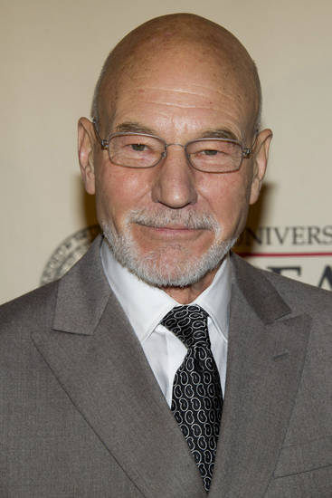 Honoree Patrick Stewart attends the 71st Annual Peabody Awards in New York, Monday, May 21, 2012. (AP Photo/Charles Sykes)