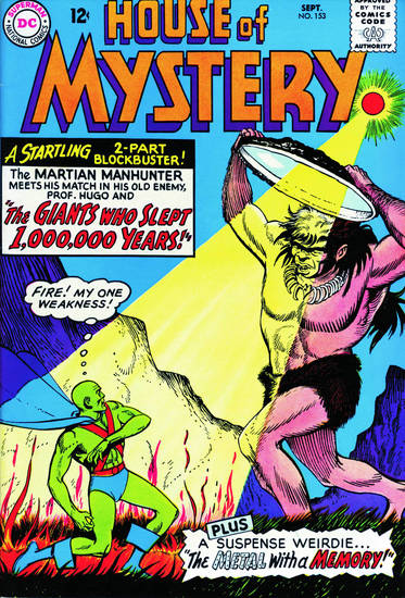 A comic book featuring Martian Manhunter.  DC Comics. <strong></strong>