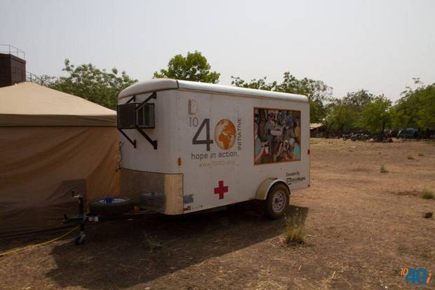 Doctors use this air-conditioned mobile medical unit purchased and outfitted by 1040i to perform surgeries as they work deep in the heart of Ivory Coast in Africa. PHOTO PROVIDED. <strong></strong>