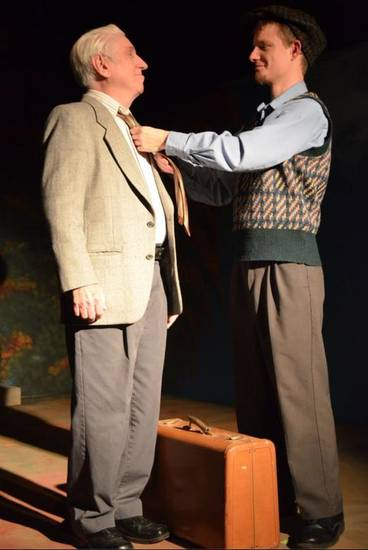 "Paul Smith as Ralph Bellini and Robby Ray as young Ralph in Carpenter Square Theatre's production of ""The Last Romance."" Photo provided"