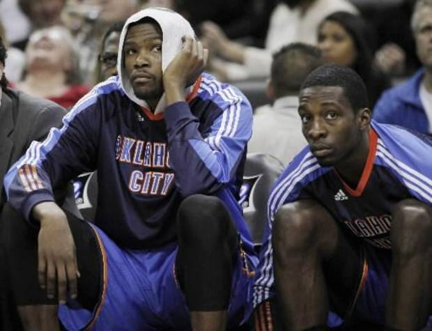 Kevin Durant and Jeff Green have yet to find an answer for the league's best teams.