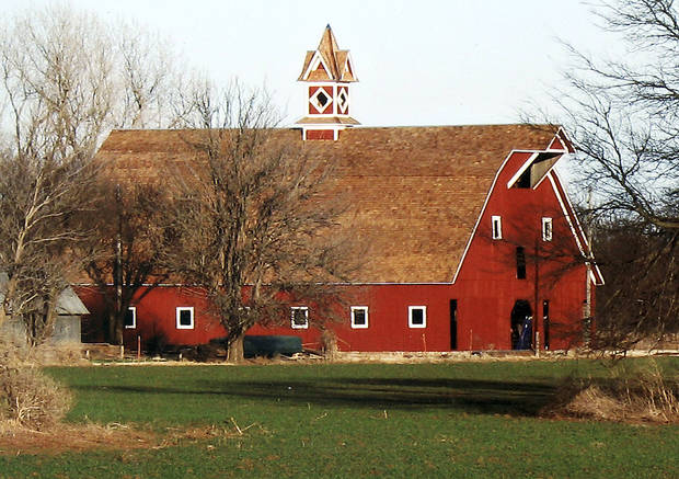 "The barn on the ""Charlie's Place"" homestead has been restored, along with its original cupola. <strong> - Provided</strong>"