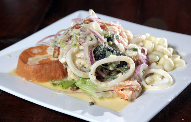 The crown jewel of Ceviche House in Warr Acres is the Ceviche Mixto. <strong>SARAH PHIPPS - THE OKLAHOMAN</strong>