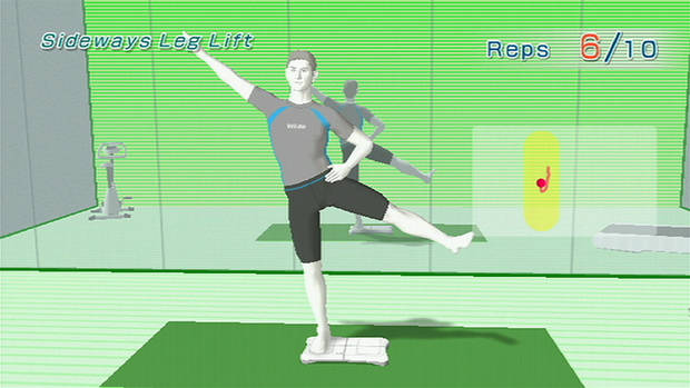 "In this photo released by Nintendo shows a scene from ""Wii Fit"". Big retailers are worried that there may not be enough copies of Nintendo's ""Wii Fit"" to go around. (AP Photo/Nintendo) **NO SALES** ORG XMIT: NY324"