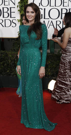 the Golden Globe Awards Sunday, Jan. 16, 2011, in Beverly Hills, Calif. (AP Photo/Matt Sayles)