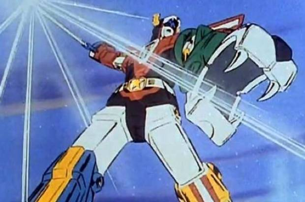 Voltron as seen in the animated series.