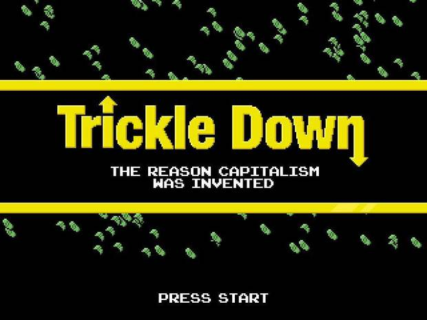 "Matthew Kaney, of Norman, created the satirical video game ""Trickle Down"" as part of his ""Momentum"" Spotlight project. Photo provided. <strong></strong>"