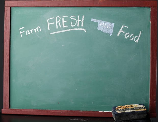 FARM TO FRESH / CHALKBOARD at the OPUBCO studio in Oklahoma City, Tuesday, July 31, 2012. Photo by Sarah Phipps, The Oklahoman.
