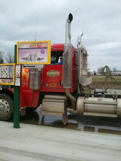 A truck driver passing through Valliant stops at the first Sonic Drive-In to feature a stall built specifically for semitrailer trucks. <strong> - PROVIDED BY SONIC</strong>