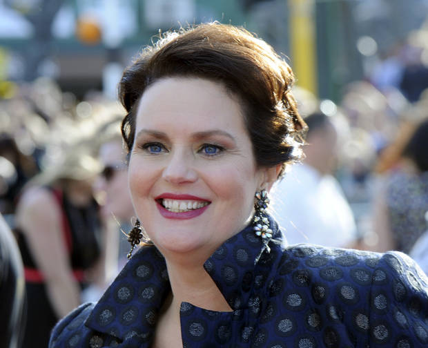 "Co-producer Philippa Boyens smiles on the red carpet at the premiere of ""The Hobbit: An Unexpected Journey,"" at the Embassy Theatre, in Wellington, New Zealand, Wednesday, Nov. 28, 2012. (AP Photo/SNPA, Ross Setford) NEW ZEALAND OUT"