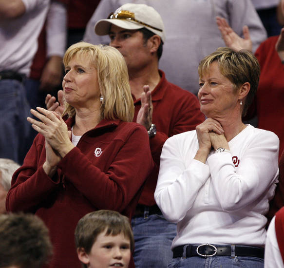 Fans watch the Sooners in the first half of the NCAA women's basketball tournament game between the University of Oklahoma and Pittsburgh at the Ford Center in Oklahoma City, Okla. on Sunday, March 29, 2009. 