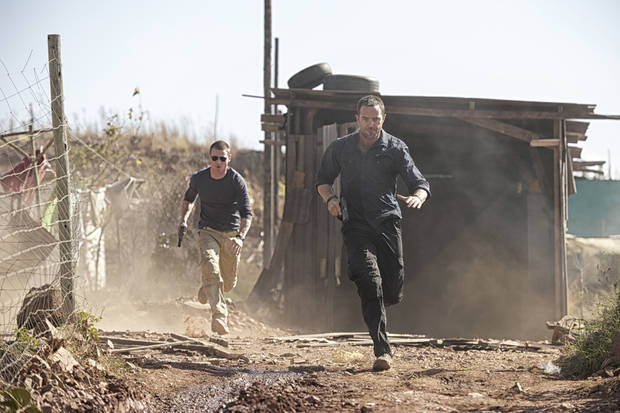 "From left, Sullivan Stapleton and Philip Winchester Sullivan in ""Strike Back"" - Cinemax Photo"